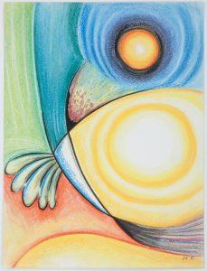 Sans titre - Oeuvre sur papier - 32 x 24 cm - Abstraction Lyrique
