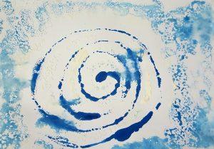 Une belle spirale bleue