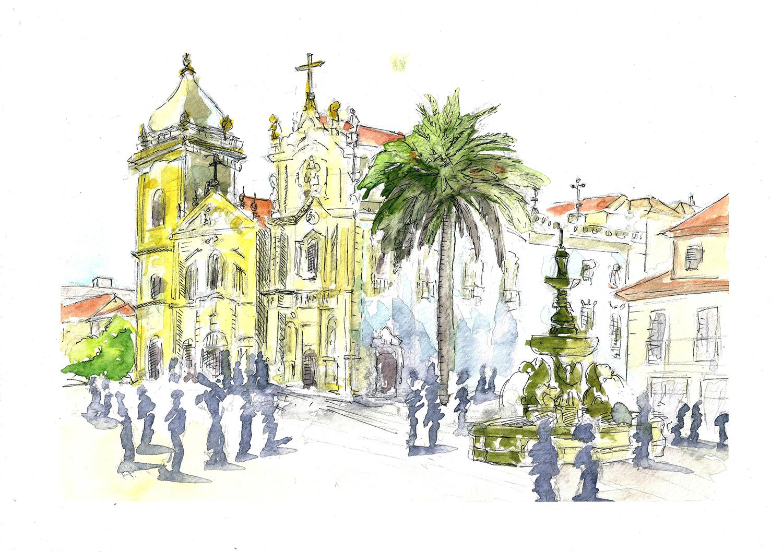 Carte postale «Plaça dos Leões» – Céline Barrier