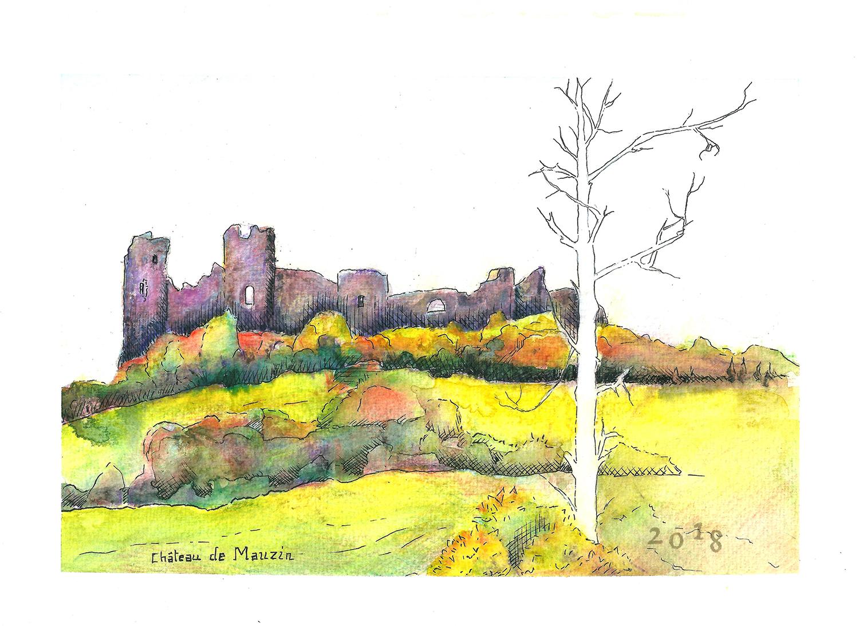 Carte postale «Château de Mauzun» – Céline Barrier