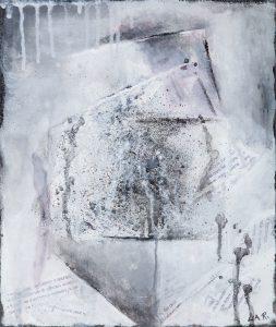 Carrés - 56 x 47 cm - collage textes et acrylique
